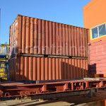 контейнер 20 футов flatrack сбоку