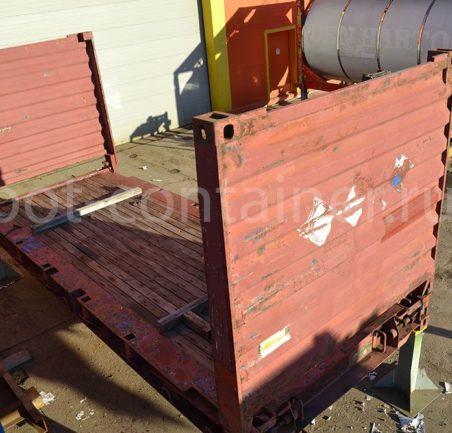 контейнер 20 футов flatrack бу сверху