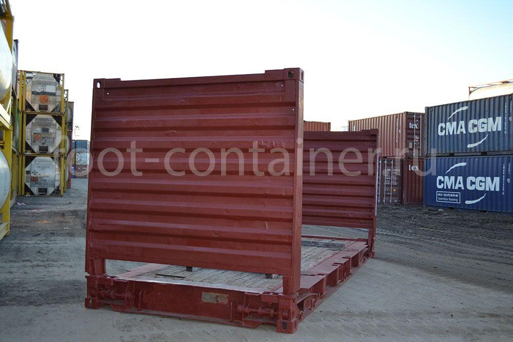 морской контейнер 20 футов flatrack бу