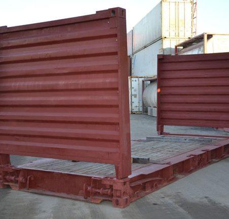 контейнер 20 футов flatrack бу сбоку