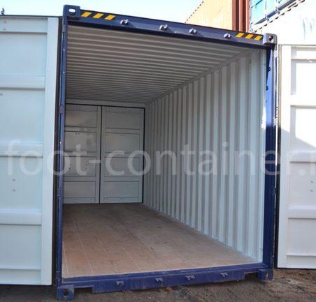 Новый контейнер 20 футов высокий даблдор двери открыты