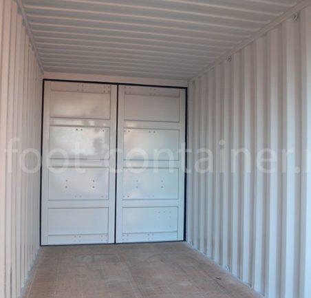 Новый контейнер 20 футов высокий даблдор внутри