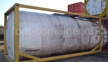 Контейнер 20' Tank Container б/у сбоку