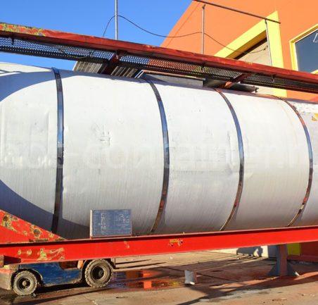 Контейнер 20' Tank Container б/у вид сбоку