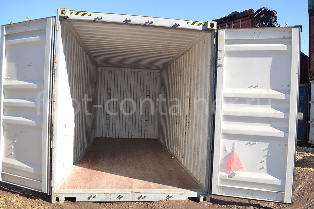 Контейнер 20 футов высокий и широкий (20′ HCPW) б/у двери открыты