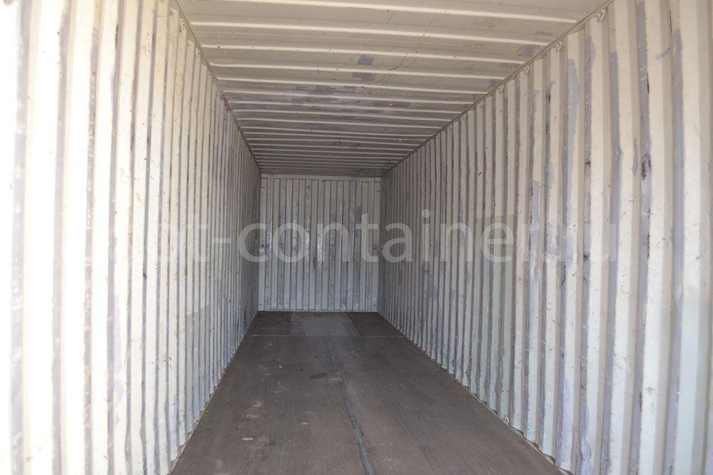 Морской контейнер 40 футов бу high cube внутри