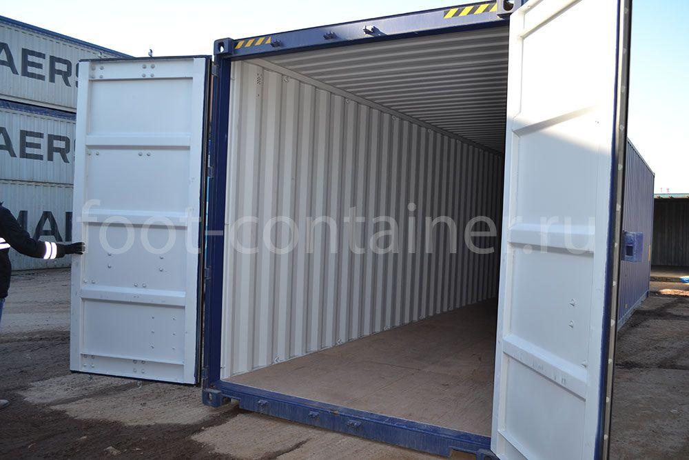 Морской контейнер 40 футов новый high cube двери открыты
