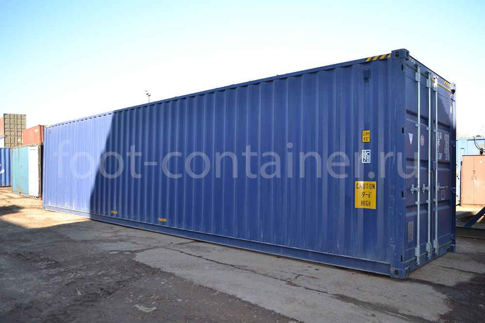 Морской контейнер 40 футов новый high cube сбоку