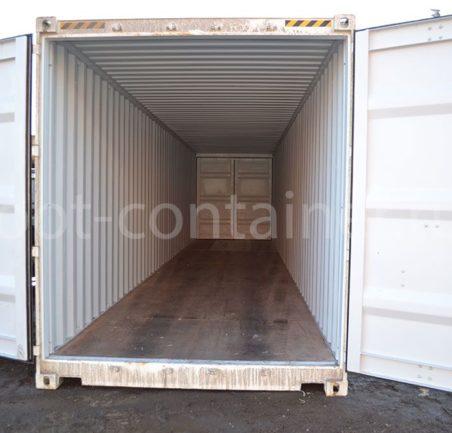 Новый контейнер 40 футов высокий с дополнительными торцевыми дверями (40′ HCDD) двери открыты