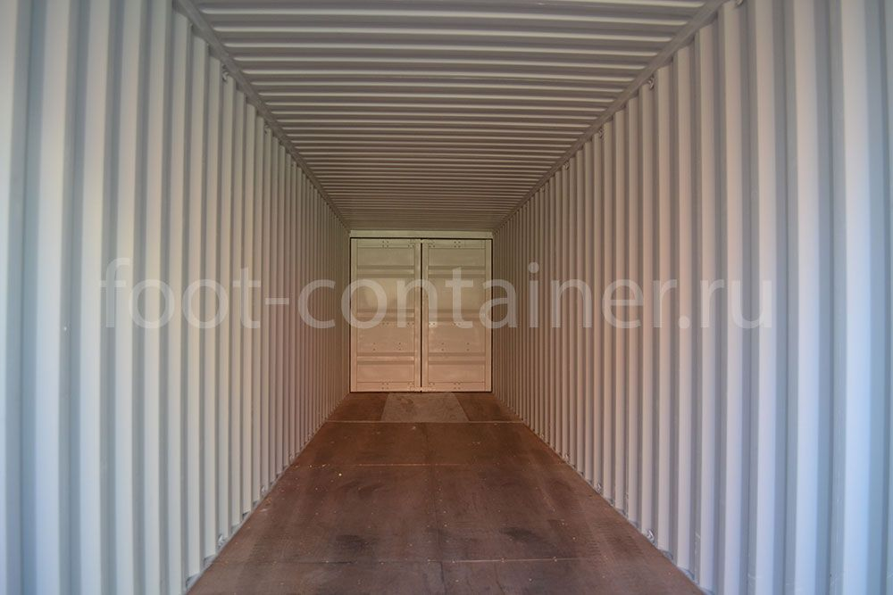 Новый контейнер 40 футов высокий с дополнительными торцевыми дверями (40′ HCDD) внутри