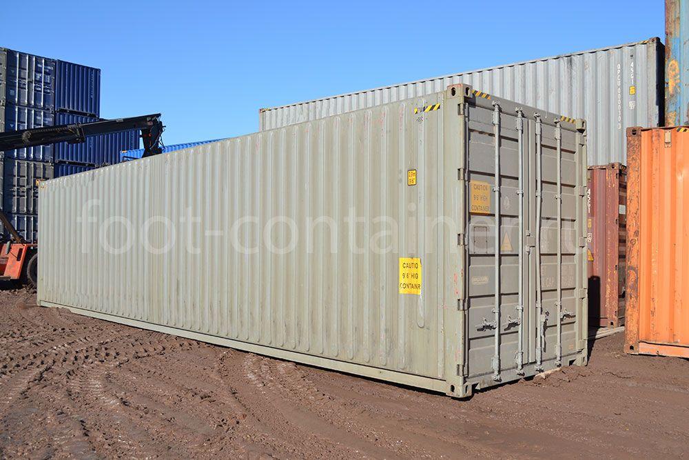Контейнер 40 футов бу high cube pallet wide сбоку