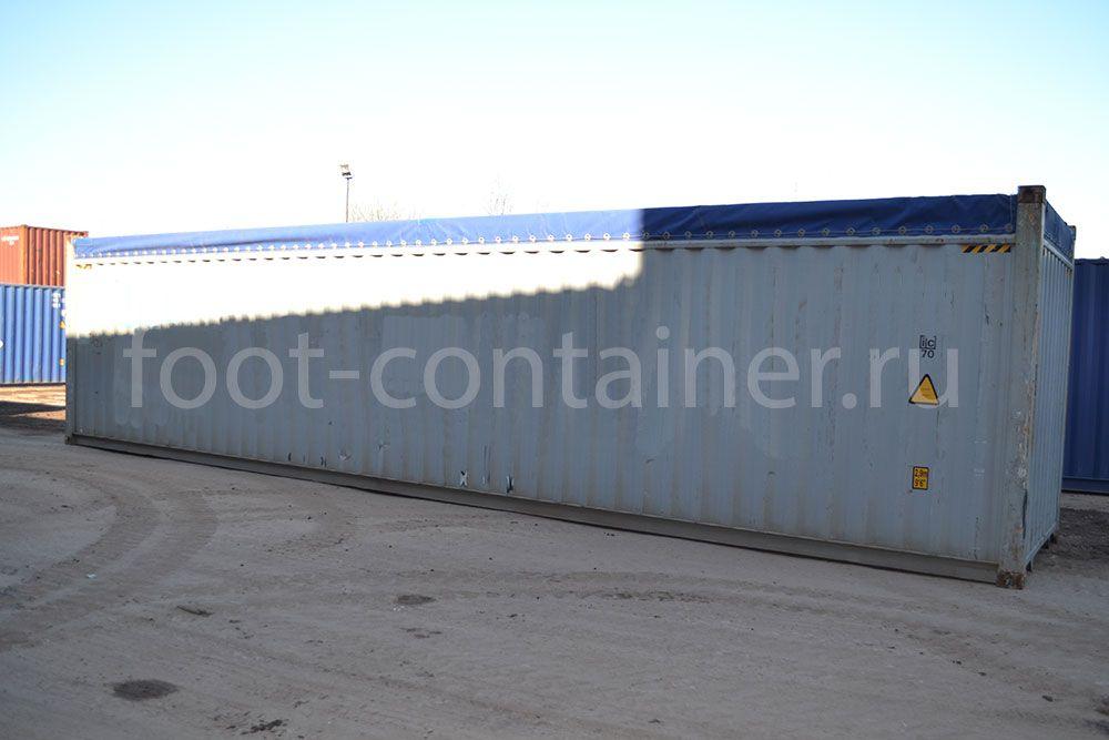 Контейнер 40 футов с верхом из брезента (40′ OT)