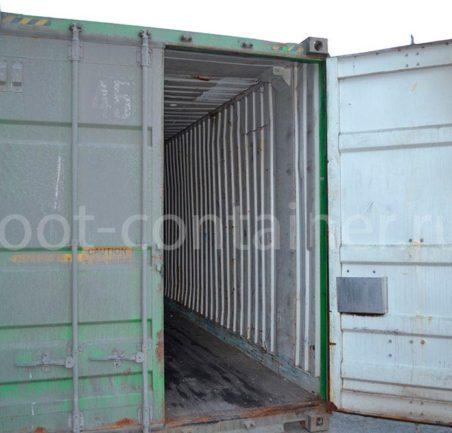 """Контейнер 45 футов высотой 2,9 м (45' HCPW 9'6"""") б/у дверь открыта"""