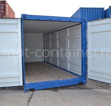 Контейнер 20 футов с дополнительными боковыми дверями (20' SD) новый вид двери открыты