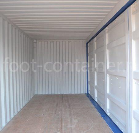 Контейнер 20 футов с дополнительными боковыми дверями (20' SD) новый внутри