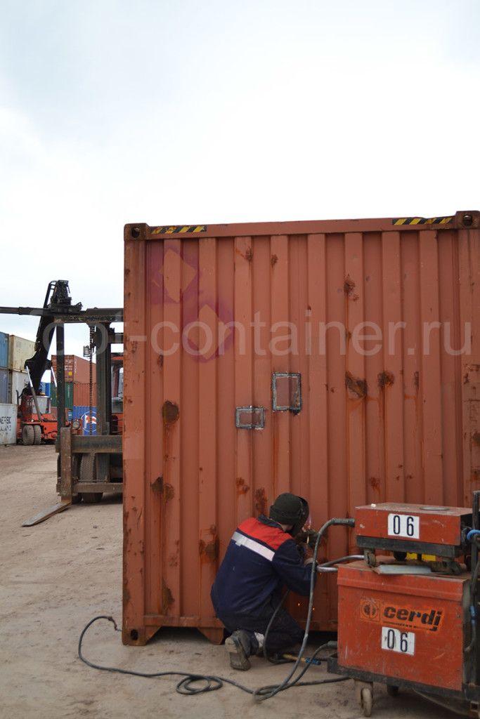ремонт контейнеров сварка