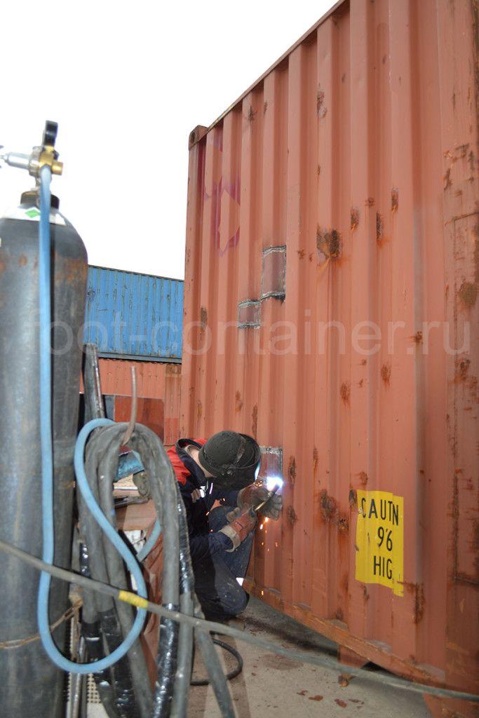 ремонт контейнеров сварщик