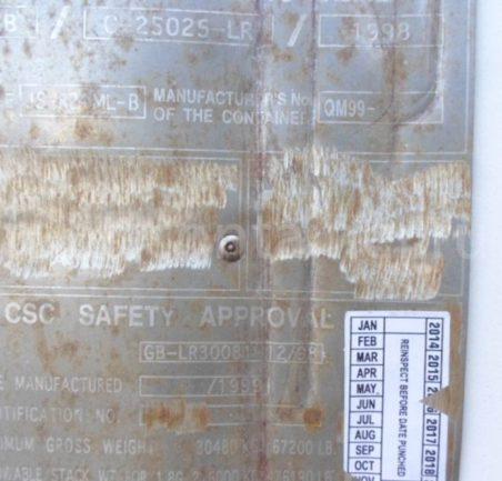 Рефконтейнер 20′ RC Carrier 1999 шильдик