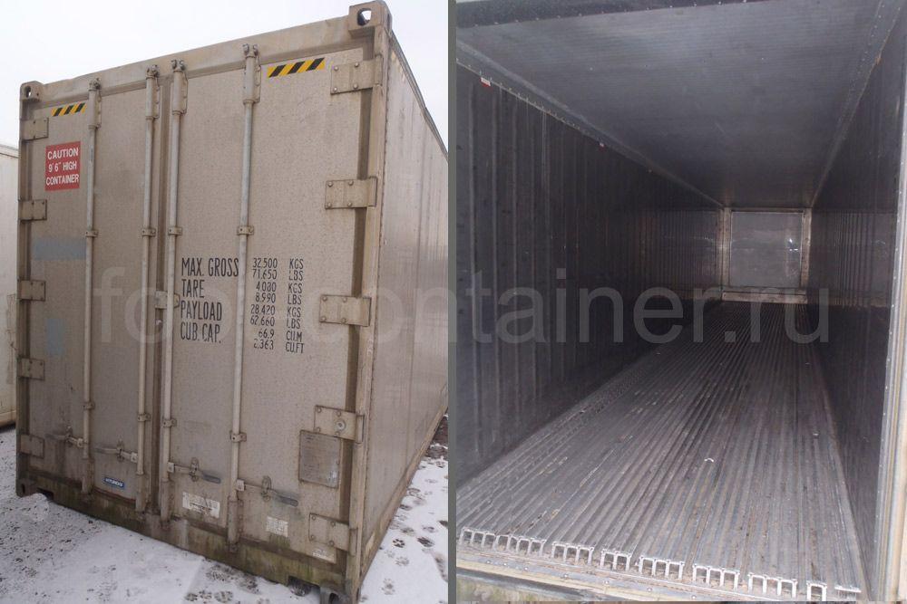 Рефконтейнер 40′ RCHC Carrier 1997 внутри