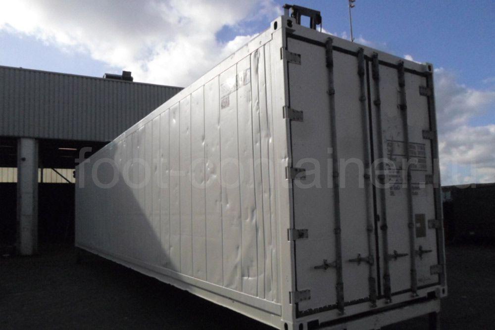 Рефконтейнер 40 футов высокий Carrier 2008 сбоку