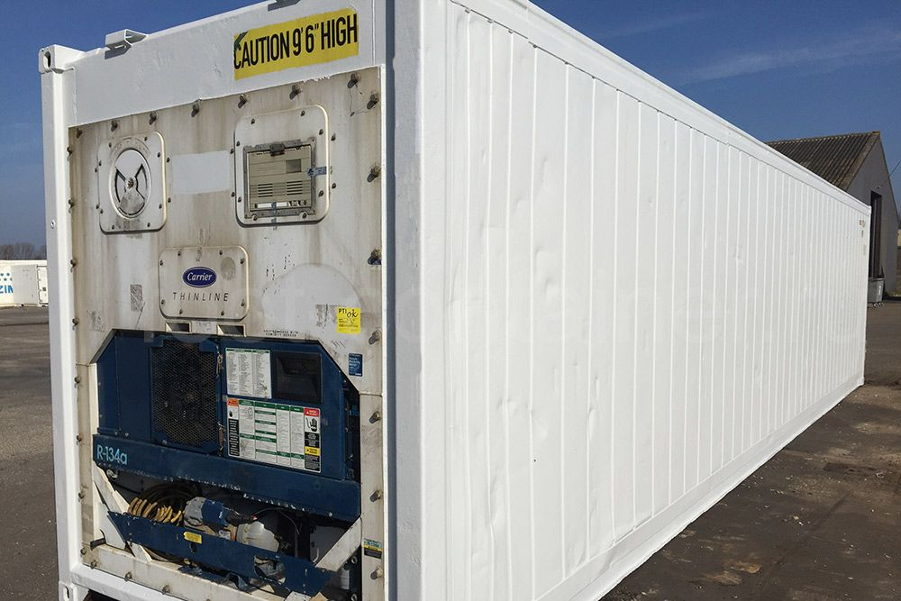 Рефконтейнер 40 футов высокий Carrier 2002 сбоку