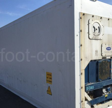 Рефконтейнер 40 футов высокий Carrier 2002 сзади
