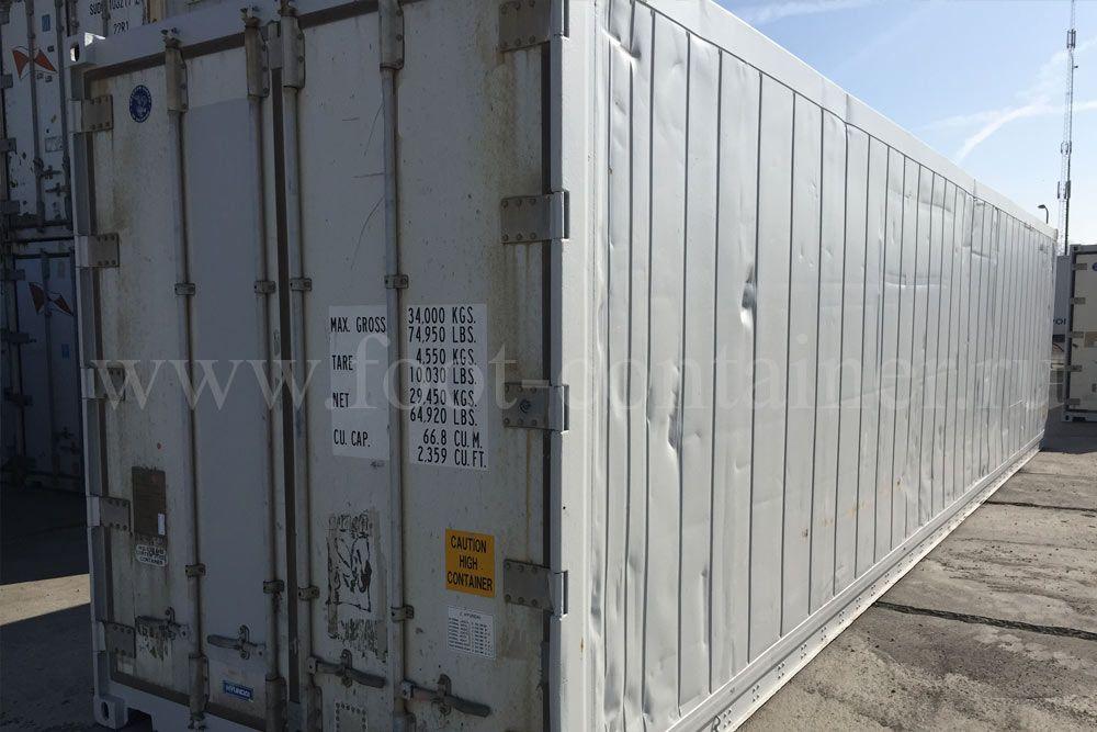 Контейнер изотермический 40 футов б/у сбоку