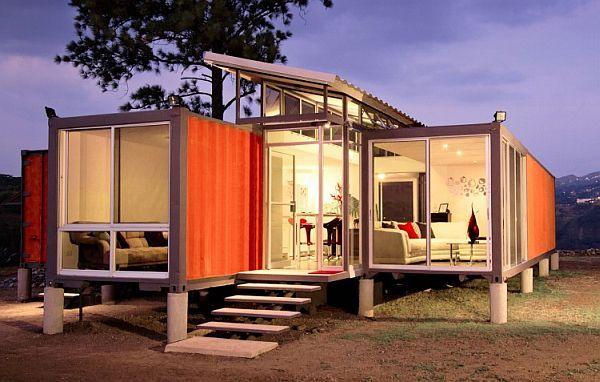 Красивый дом из контейнеров