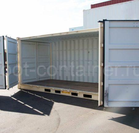 Контейнер 20 футов высокий с дополнительными боковыми дверями (20' HCOS) новый двери открыты