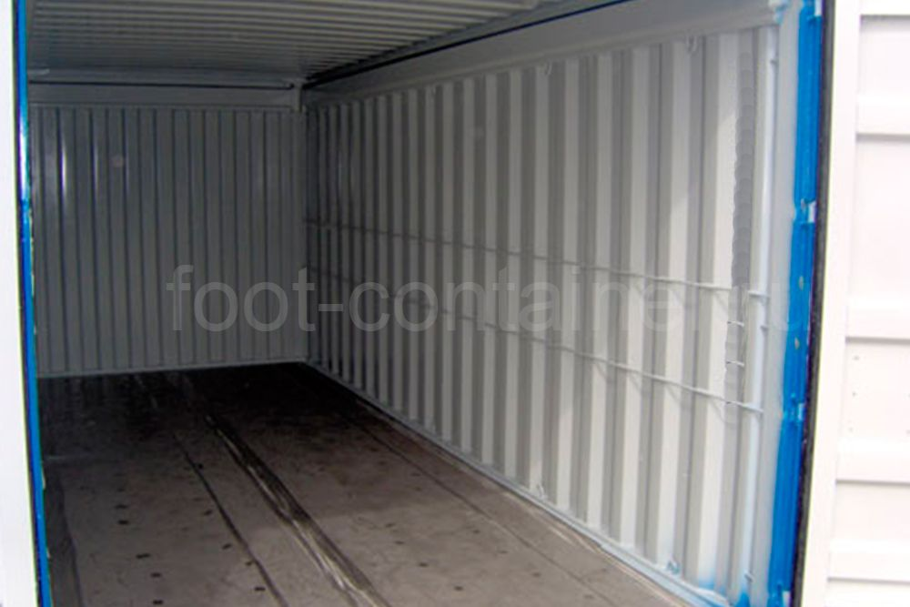 Контейнер 20 футов с жесткой съемной крышей (20' HT) новый внутри