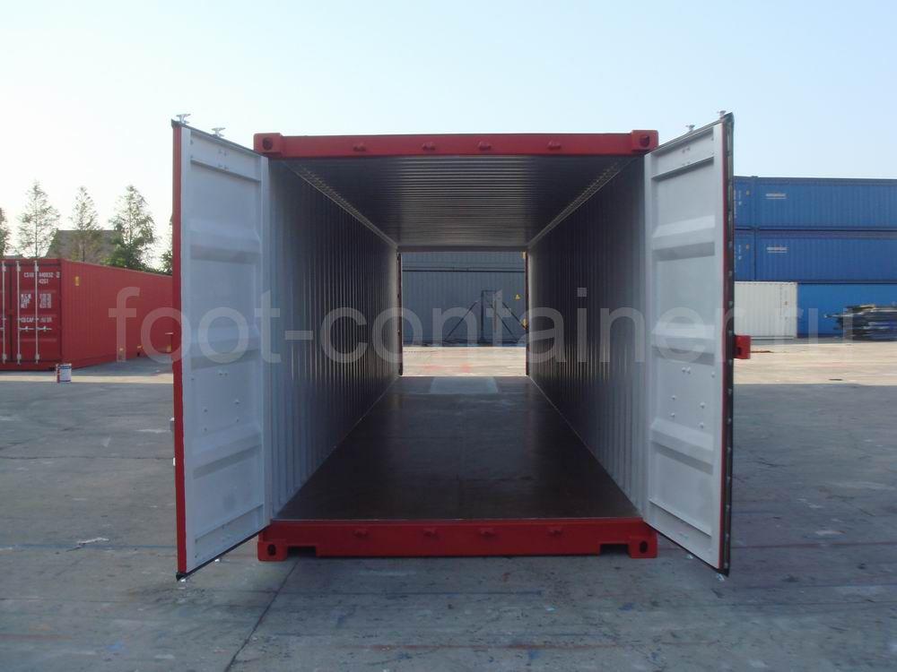 Контейнер 40 футов с дополнительными торцевыми дверями (40′ DD) новый тунель