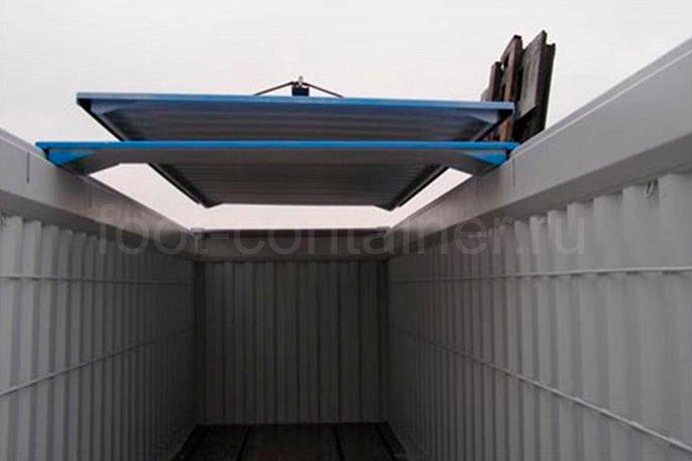 Контейнер 40 футов высокий с жесткой съемной крышей (40′ HCHT) новый крыша