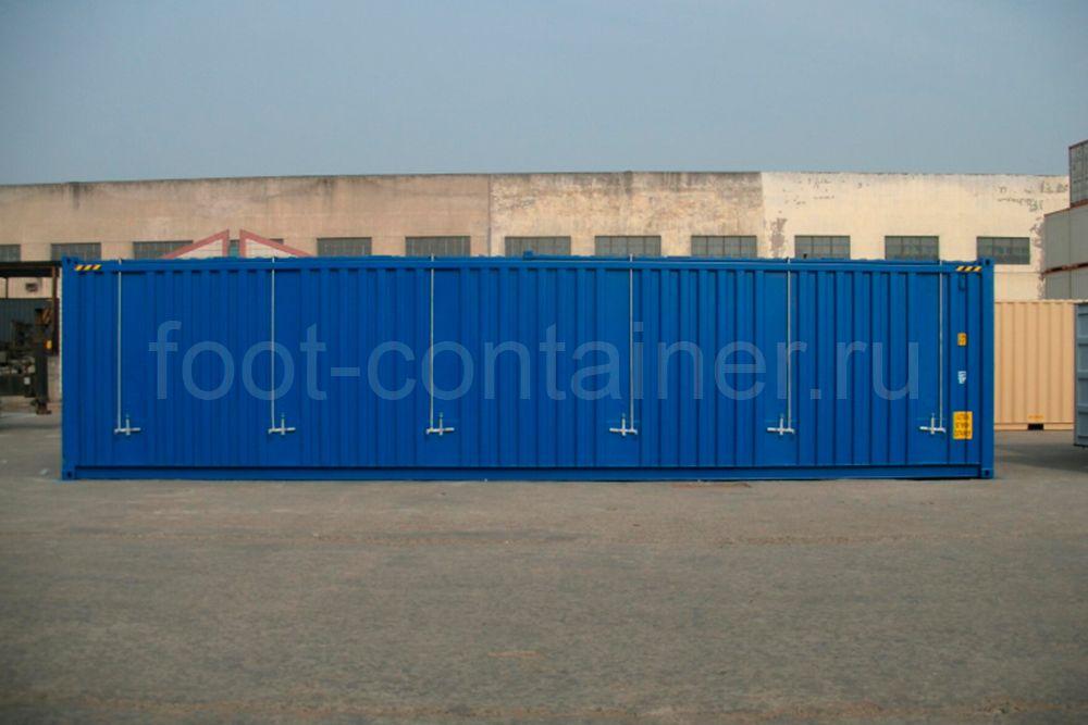 Контейнер 40 футов высокий с жесткой съемной крышей (40′ HCHT) новый вид сбоку