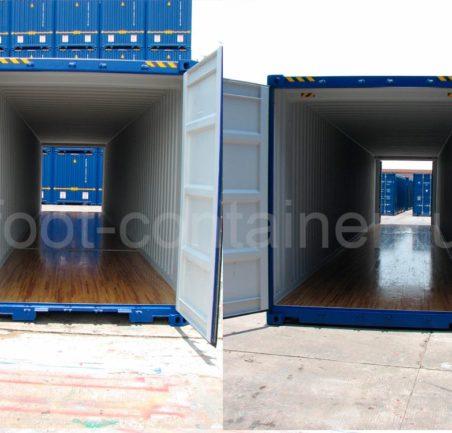 Контейнер 45 футов высотой 2,9 м с дополнительными торцевыми дверями (45′ HCDD 9'6″)