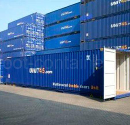 Контейнер 45 футов высотой 2,75 м. с доп. торцевыми дверями (45′ HCDD 9'1″) новый двери открыты