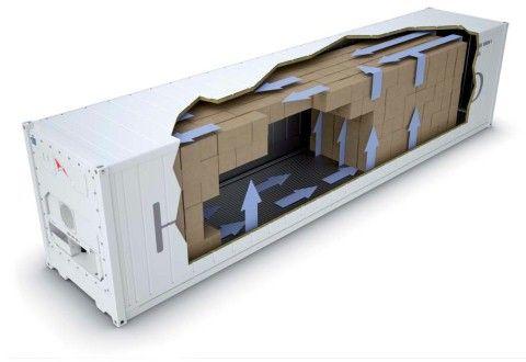 Движение воздуха внутри контейнера