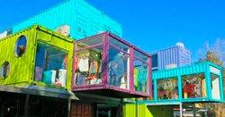 Трехэтажный торговый центр из морских контейнеров был построен в Аргентине