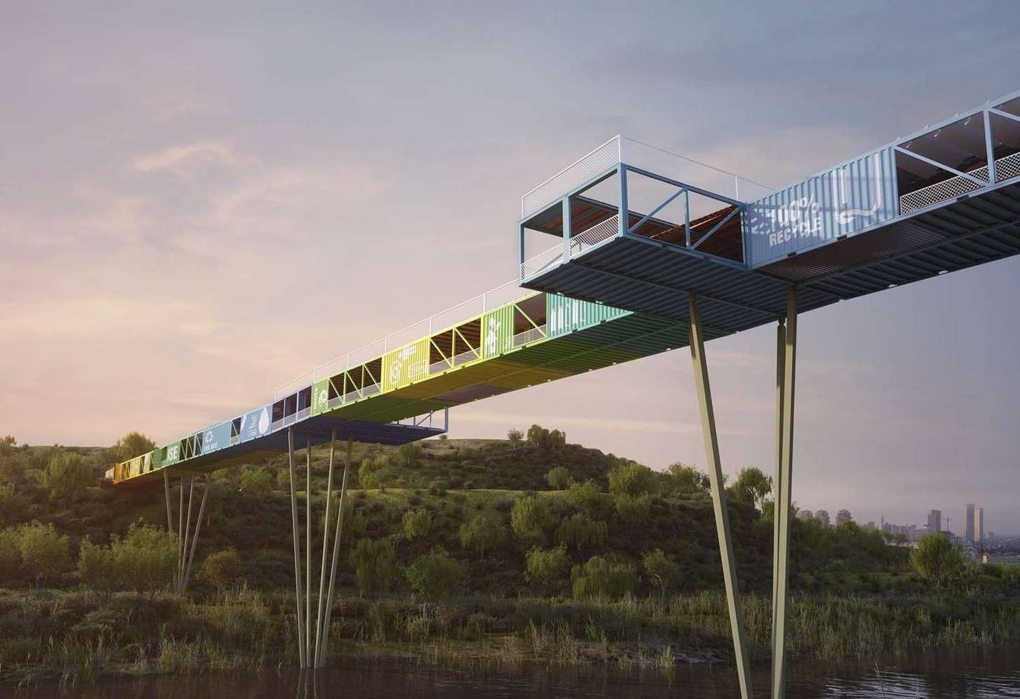 Мост из контейнеров