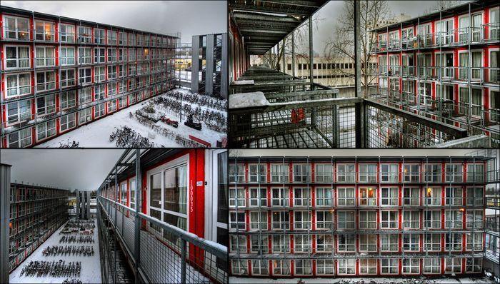 Студенческая деревня из контейнеров Wenckehof