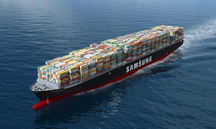 Samsung триумфально презентовал самый большой контейнеровоз в мире