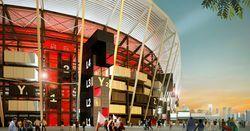 Катар строит демонтируемый футбольный стадион с элементами из морских контейнеров