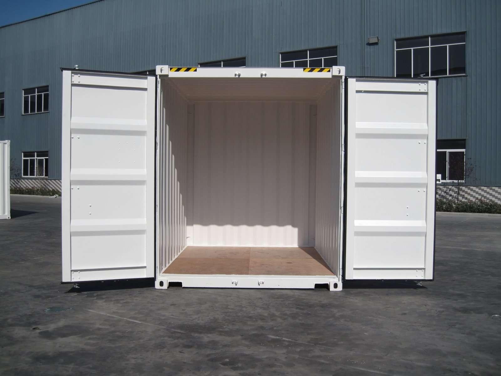 Контейнер 10 футов high cube двери открыты