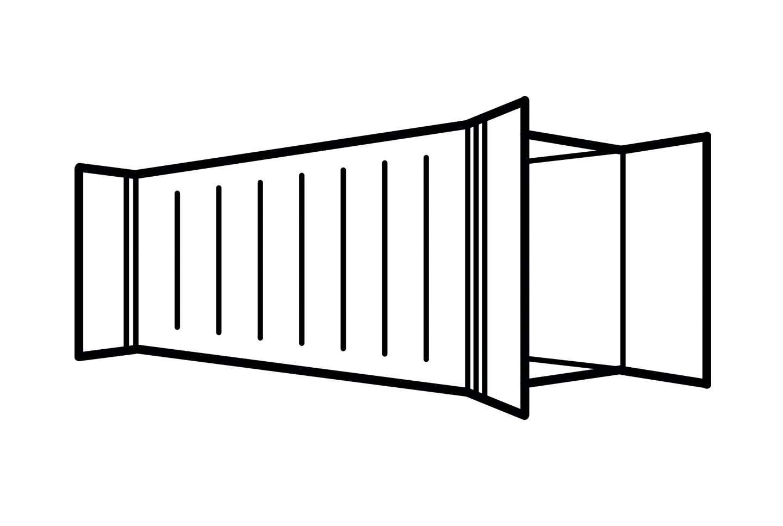 Контейнер бу 30 футов стандартный DD (double door)