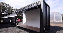 Двухуровневый стенд для выставки из 20 футового контейнера
