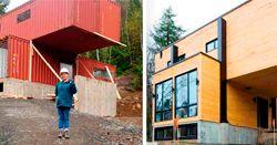Новый дом из сухогрузных контейнеров: необычный материал и необычные решения