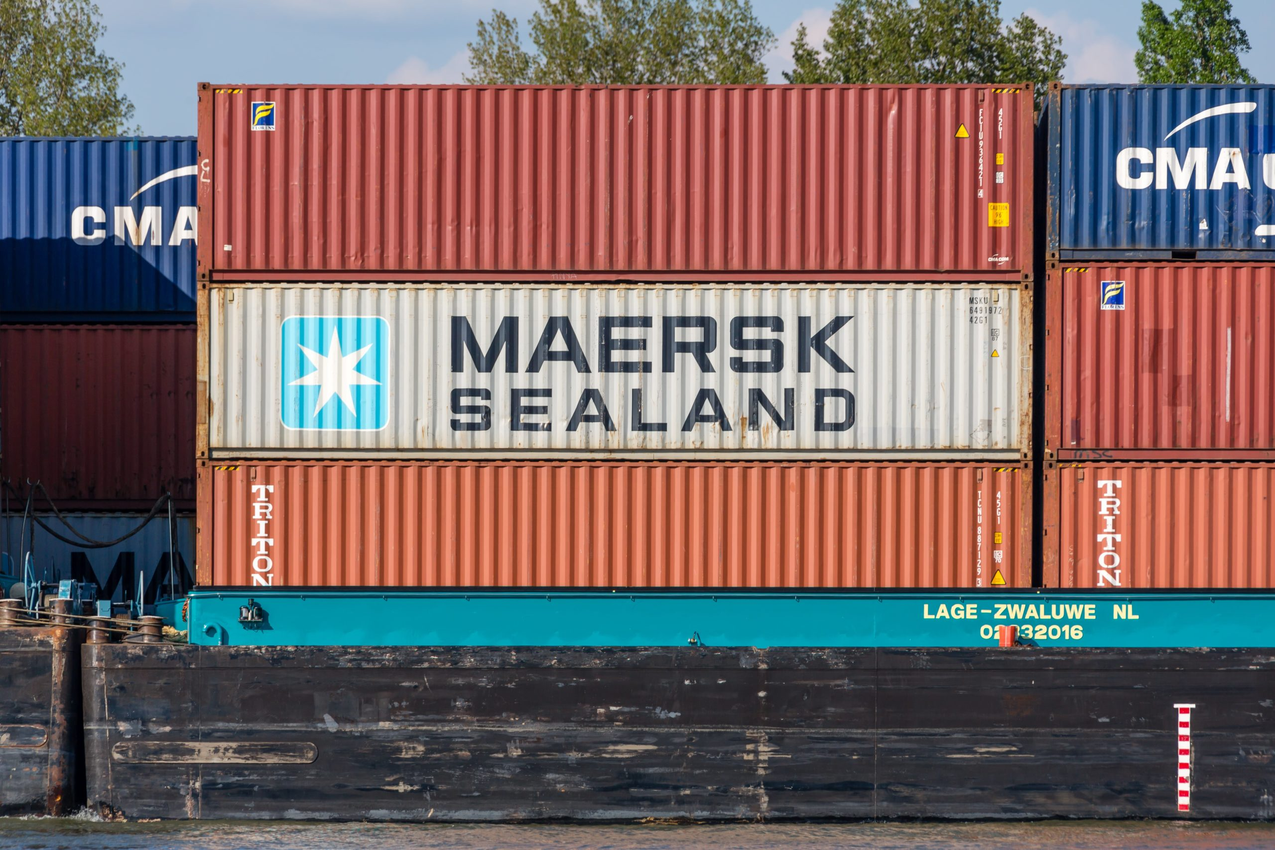maersk white color container